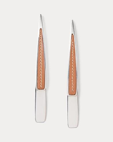 Sterling-Calfskin Earrings