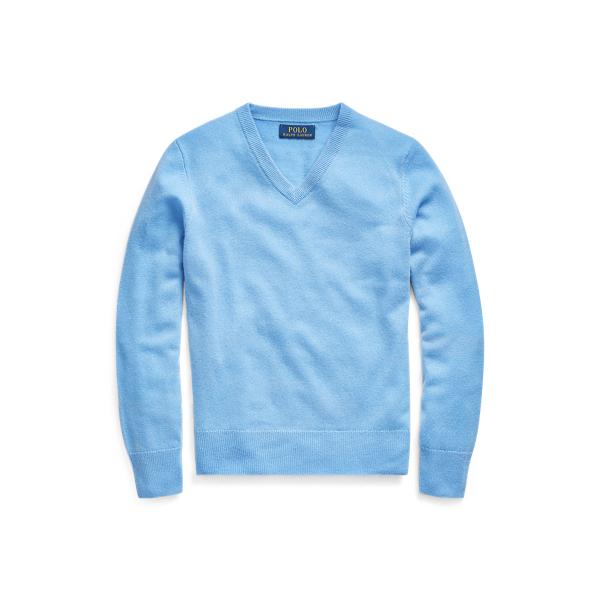 폴로 랄프로렌 보이즈 캐시미어 브이넥 스웨터 Polo Ralph Lauren Cashmere V Neck Sweater,New Litchfield Blue