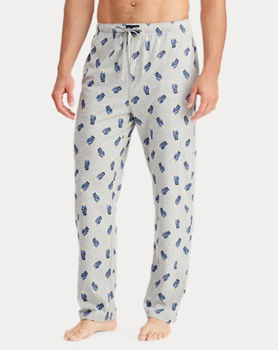 Polo Bear Cotton Pajama Pant