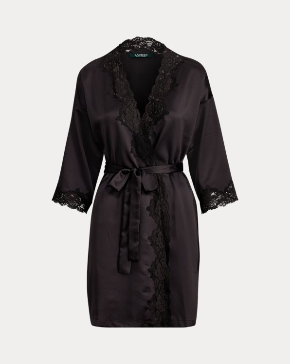 Peignoir kimono en satin