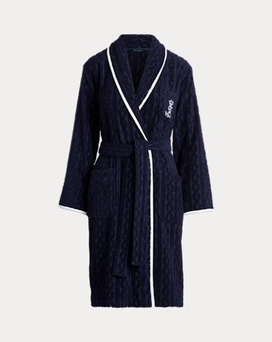 Shawl-Collar Terry Robe