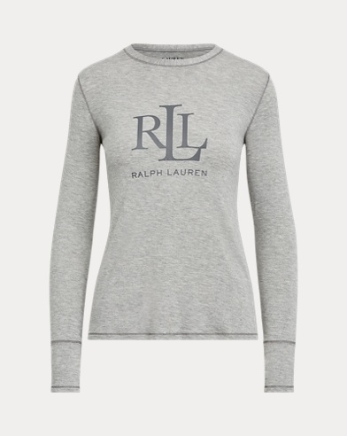 Logo Long-Sleeve Sleep Shirt