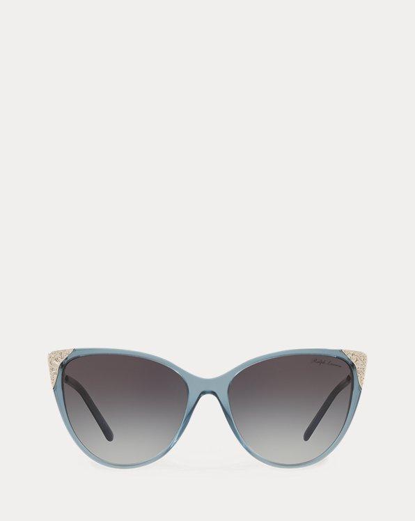 Hand-Tooled Cat-Eye Sunglasses