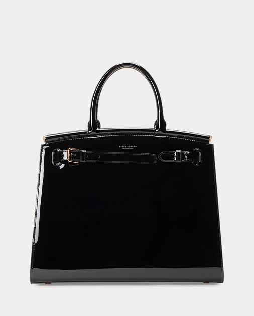7657211a637d Ralph Lauren Patent Large RL50 Bag 1
