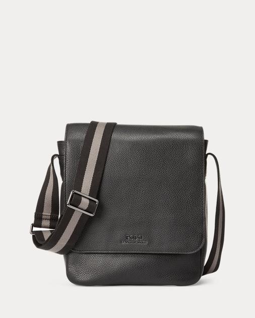Pebbled Leather Flight Bag