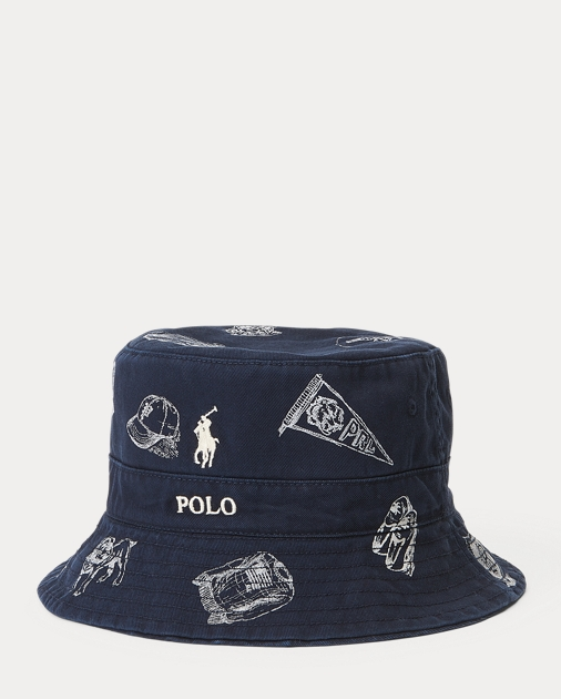 bf5e73dde9d11 Polo Ralph Lauren Reversible Cotton Bucket Hat 2
