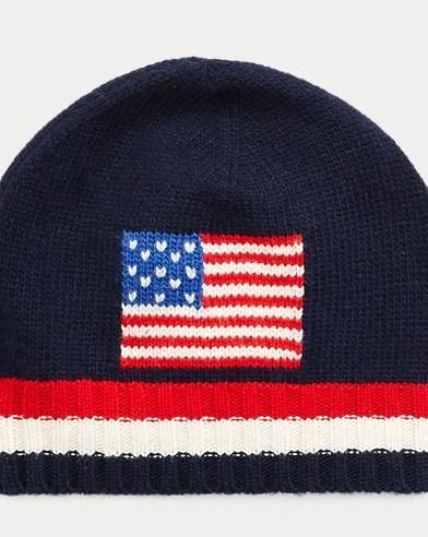 Knit Flag Hat