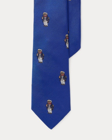 Captain Bear Silk Tie