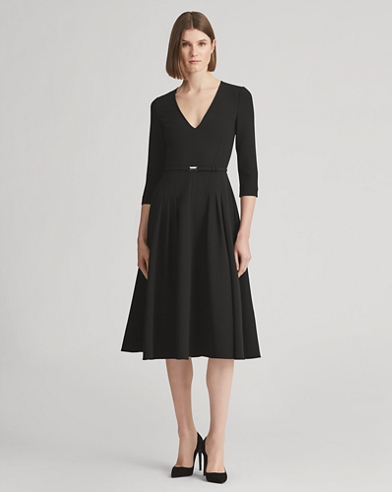 Raeana Double-Faced Wool Dress