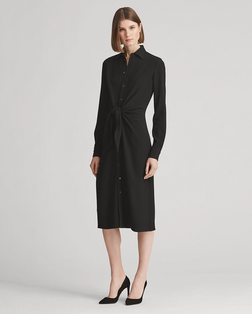 Dinah Stretch Cady Shirtdress by Ralph Lauren