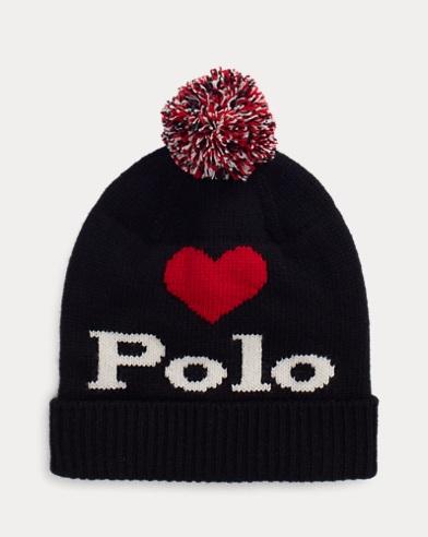 Polo Graphic Pom-Pom Hat