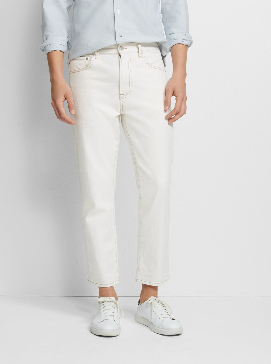 Cropped Straight Denim