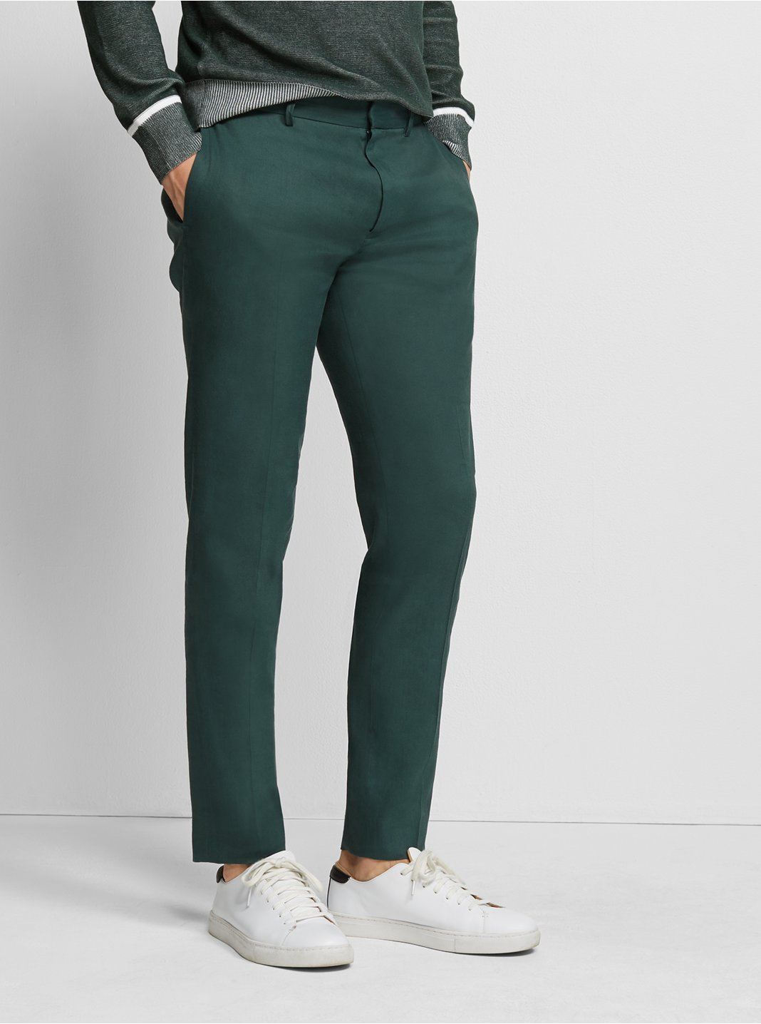 Sutton Linen-Blend Dress Pant