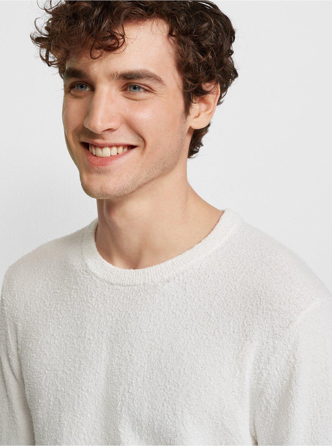 Bouclé Crew Sweater