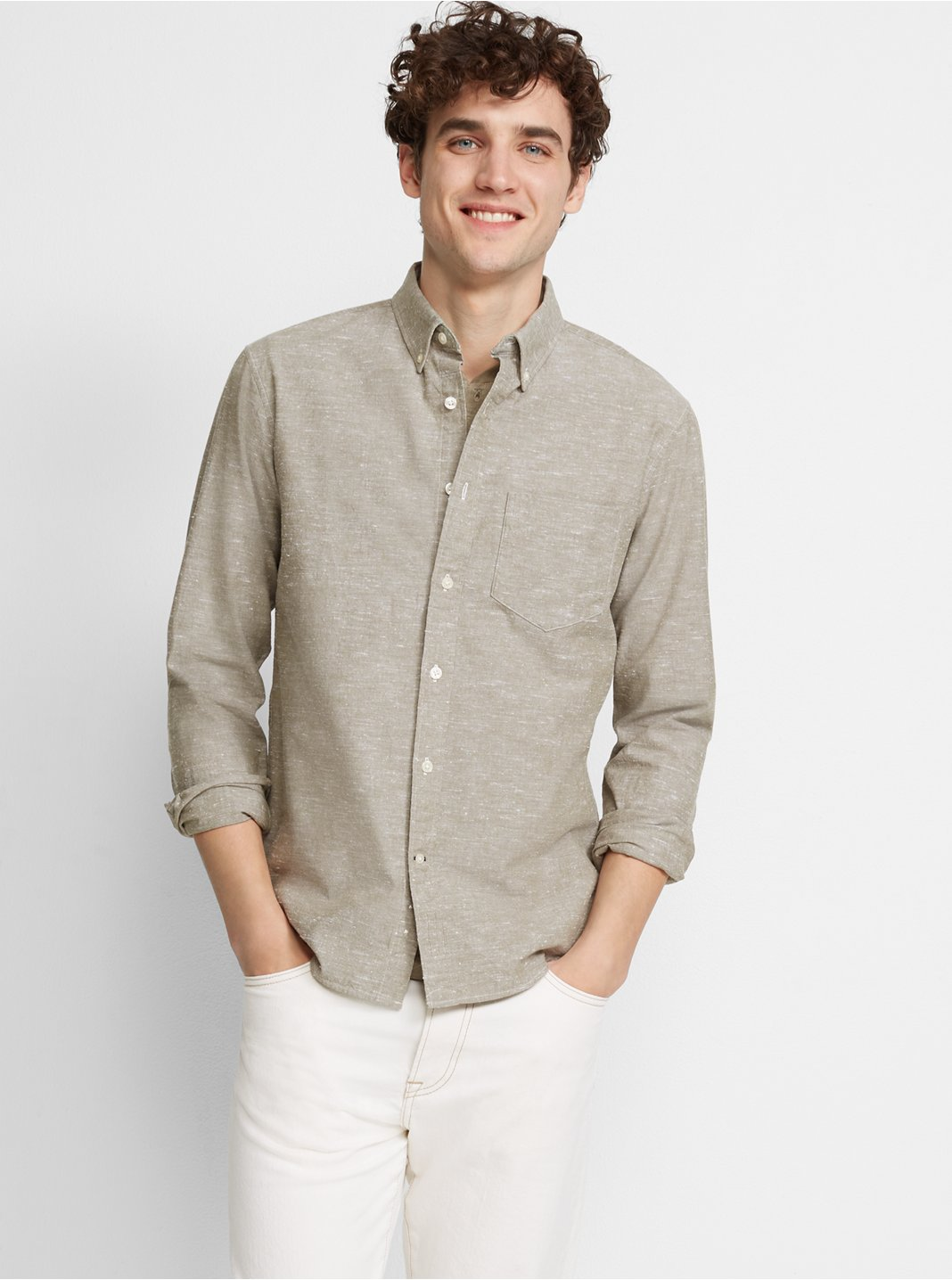 Slim Slub Chambray Shirt