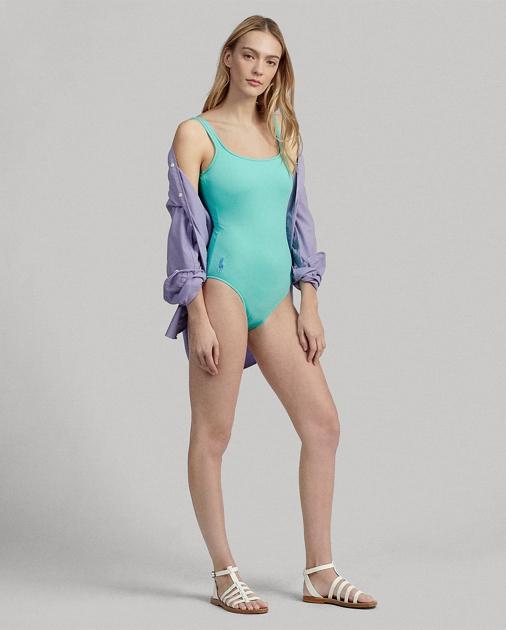 1e5dbde918 Polo Ralph Lauren Scoopback One-Piece Swimsuit 1
