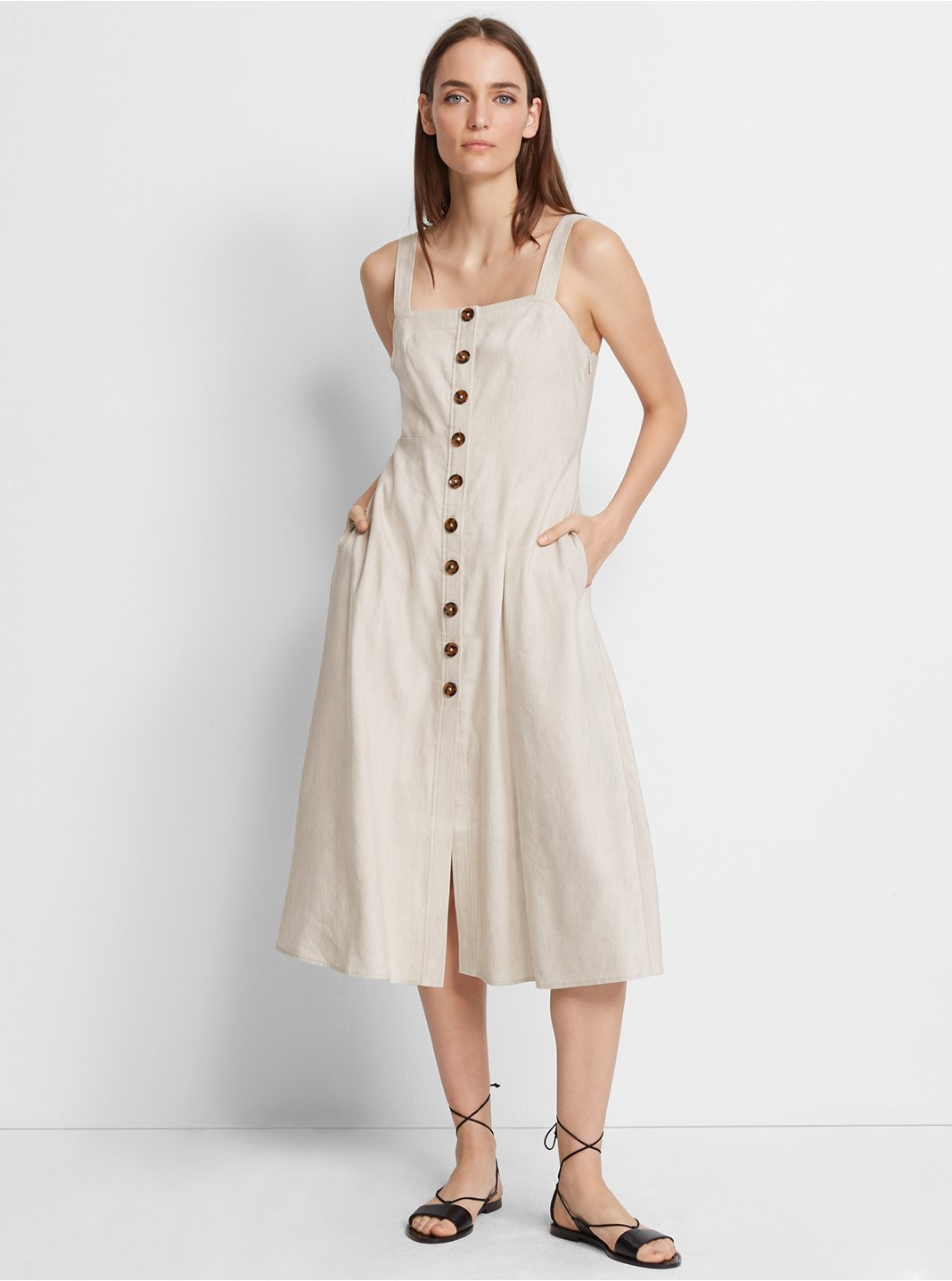 Piqua Linen Dress