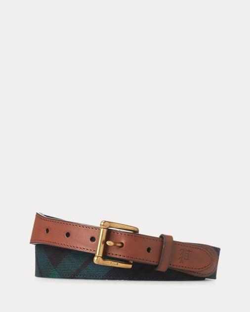 Tartan Wool Belt by Ralph Lauren
