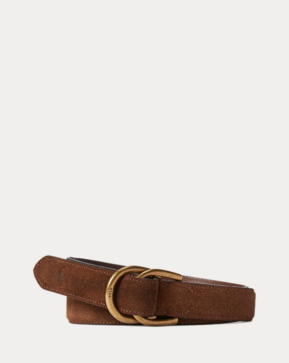 Suede D-Ring Belt
