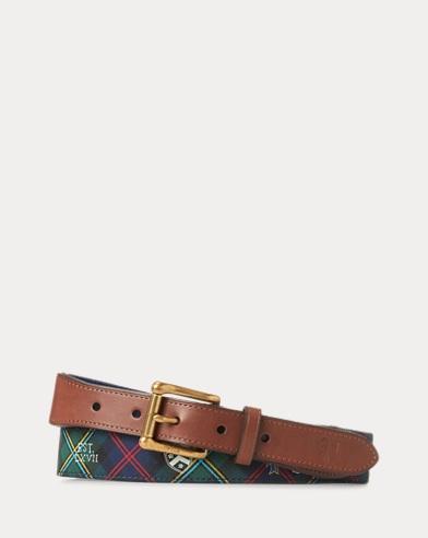 Collegiate-Print Tartan Belt