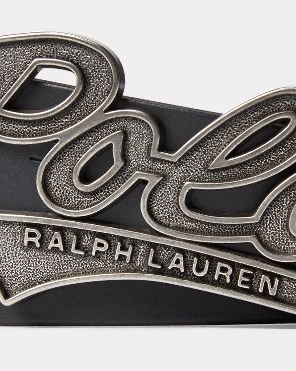 Polo Plaque Leather Belt