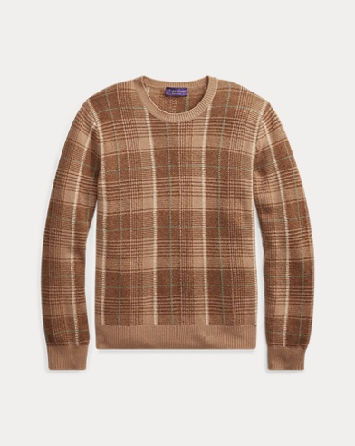 Plaid Cashmere Sweater