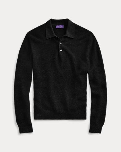 Birdseye Cashmere Polo Sweater