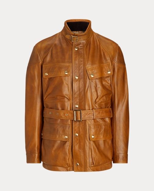 Großbritannien vorbestellen Mode-Design Leather Belted Jacket