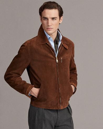 Embossed Suede Newsboy Jacket