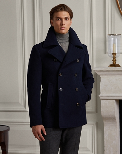 Wool-Cashmere Peacoat
