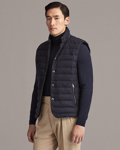 4dea9d786f28 Merino-Blend-Flannel Down Vest