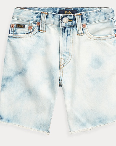 Faded Denim Cut-Off Short