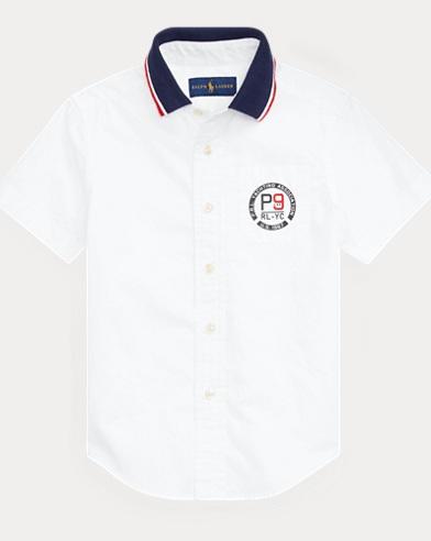 Cotton Poplin Graphic Shirt