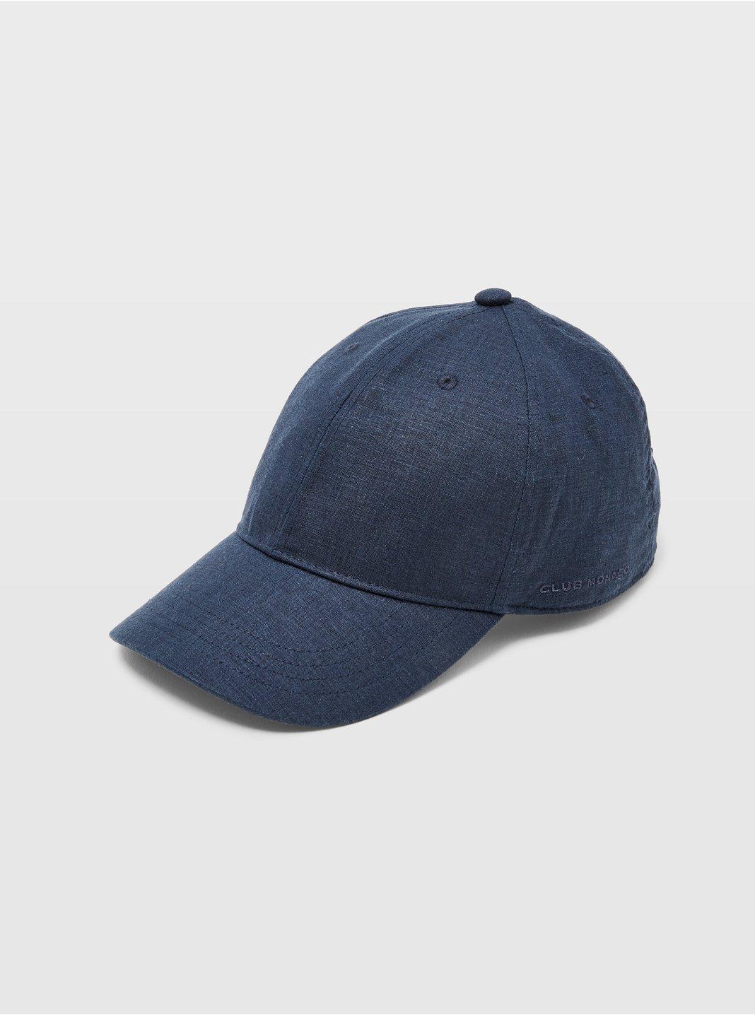 Linen-Blend Baseball Cap