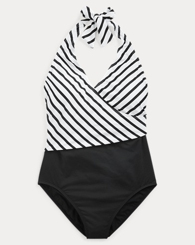 Slimming Striped Swimsuit