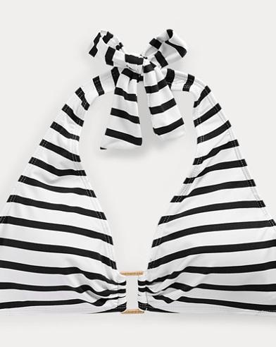 Ring-Front Halter Bikini Top