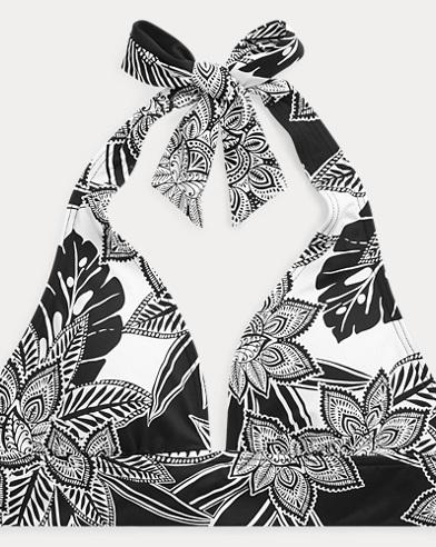Floral-Print Halter Top