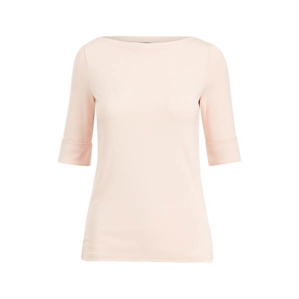 폴로 랄프로렌 Polo Ralph Lauren Cotton Boatneck Top,Pale Rose