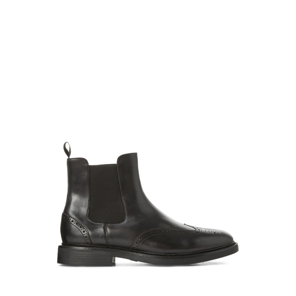 폴로 랄프로렌 첼시 부츠 Polo Ralph Lauren Asher Wingtip Chelsea Boot,Black