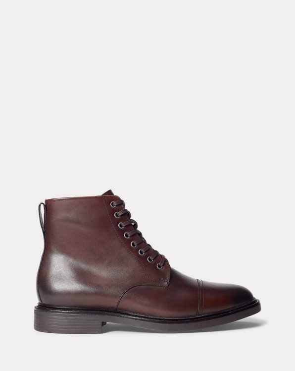 Asher Leather Cap-Toe Boot