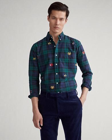 Classic Fit Plaid Oxford Shirt