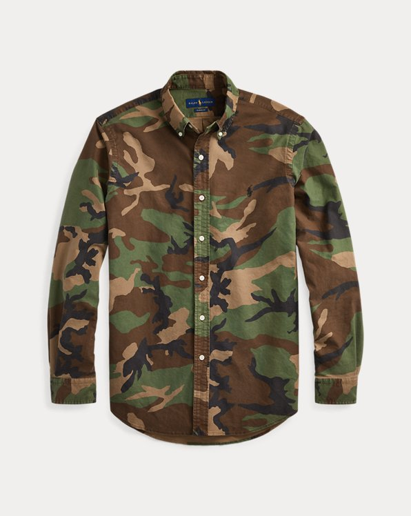 Classic Fit Camo Oxford Shirt