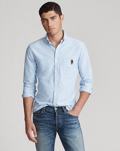 Slim Fit Bear Oxford Shirt