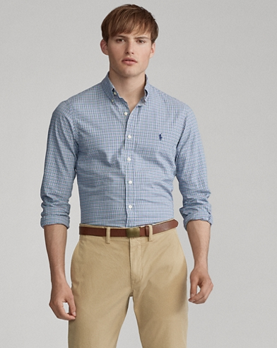 Slim Fit Plaid Twill Shirt