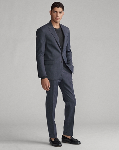 Polo Tick-Weave Wool Suit