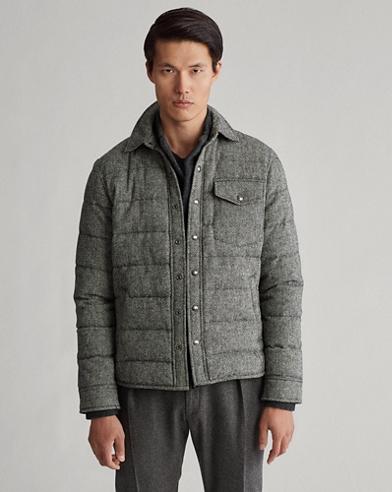Glen Plaid Down Shirt Jacket