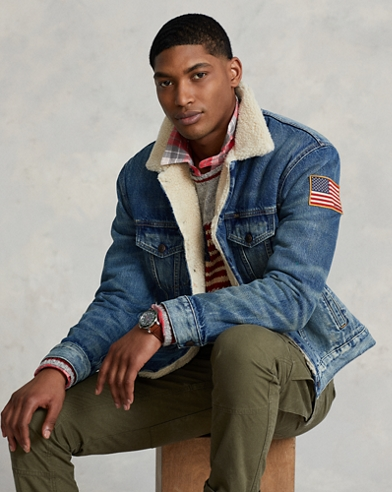 Fleece-Lined Denim Jacket