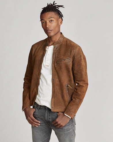 Suede Cafe Racer Jacket