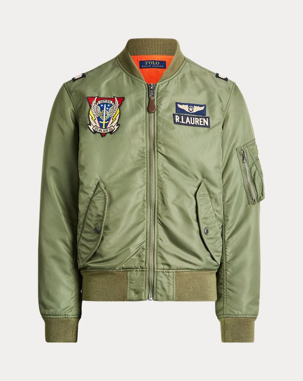 Bomber in twill