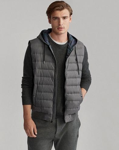 Herringbone Down Hooded Vest